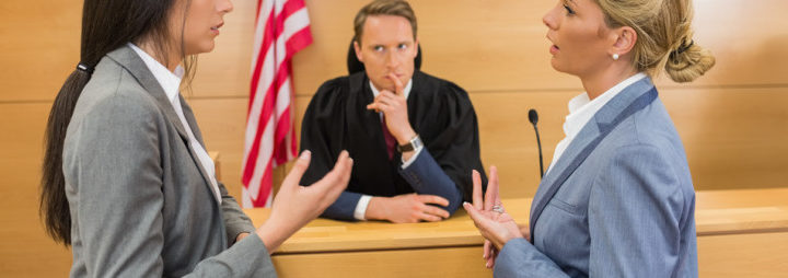 expungements adn how they affect your criminal record - lawyers making a case in front of judge